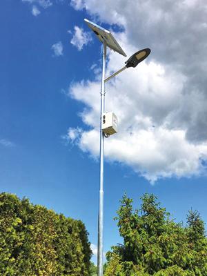 FOTO REALIZACE JD ROZHLASY solarni verejne LED osvetleni Belotin