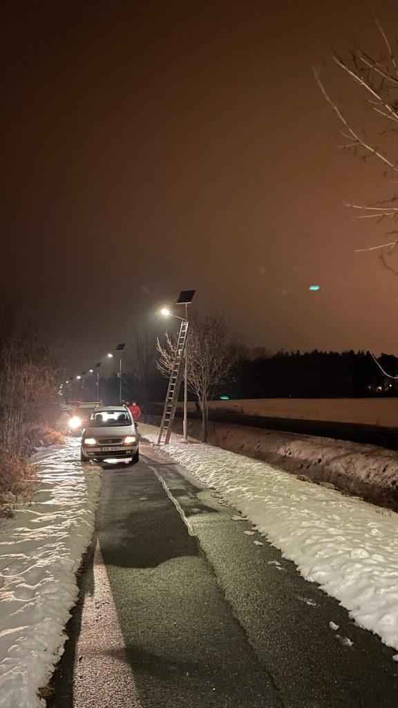 Pouliční solární LED osvětlení